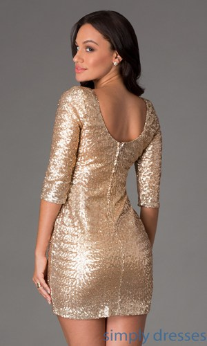 0e61d9a1277d7 Short Gold Sequin Dress By Ruby Rox on Luulla